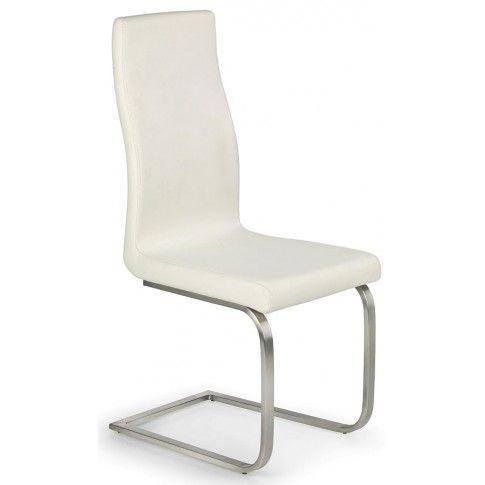Krzesło metalowe Ebris kremowe