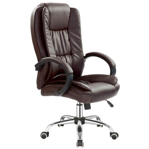 Zdjęcie produktu Fotel biurowy Ariel - ciemny brąz.