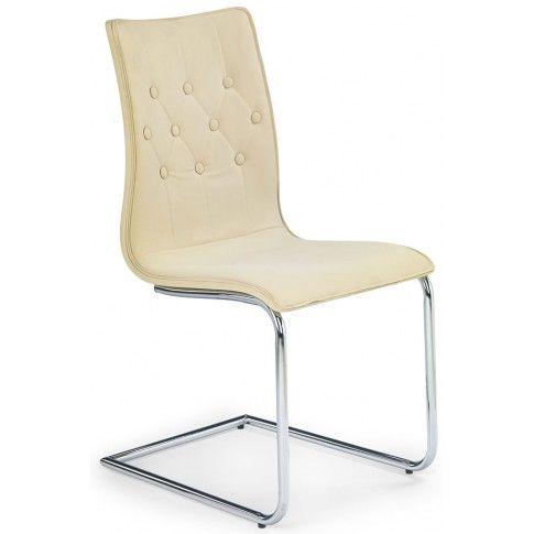 Zdjęcie produktu Krzesło pikowane Ashon - beżowe.