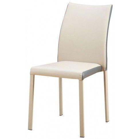 Zdjęcie produktu Krzesło metalowe Edwin - beżowe.