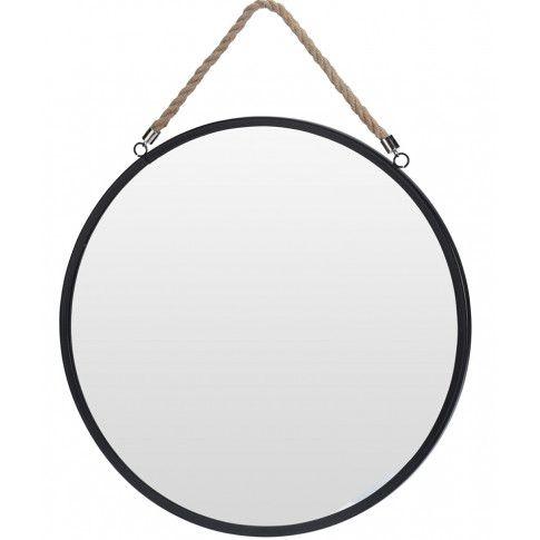 Zdjęcie produktu Okrągłe lustro Olmi na sznurku - czarne.