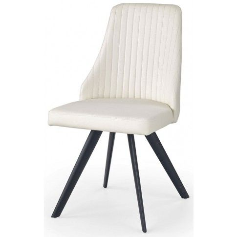 Zdjęcie produktu Krzesło w minimalistycznym stylu Vimes - białe.