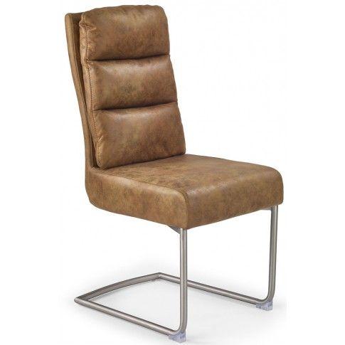 Zdjęcie produktu Krzesło z miękkim oparciem Helit - brązowe.