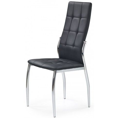 Zdjęcie produktu Stylowe krzesło czarne pikowane Azrel.