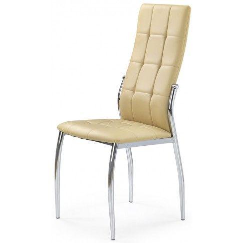 Zdjęcie produktu Krzesło pikowane Azrel - beżowe.