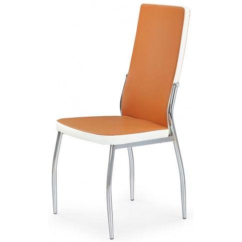 Zdjęcie produktu Krzesło tapicerowane Abrim - pomarańczowe.