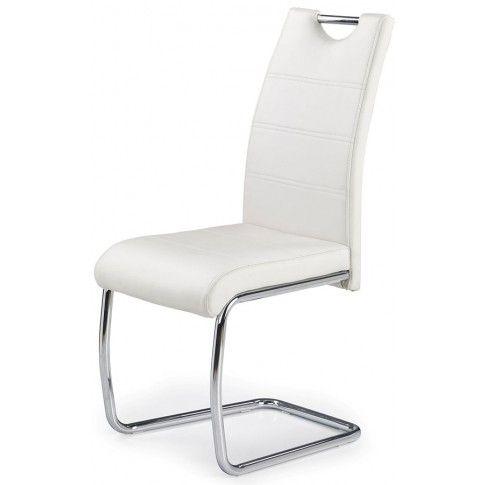 Zdjęcie produktu Minimalistyczne krzesło Elrond - białe.