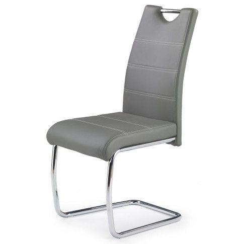 Zdjęcie produktu Stylowe nowoczesne metalowe krzesło Elrond - popielate.
