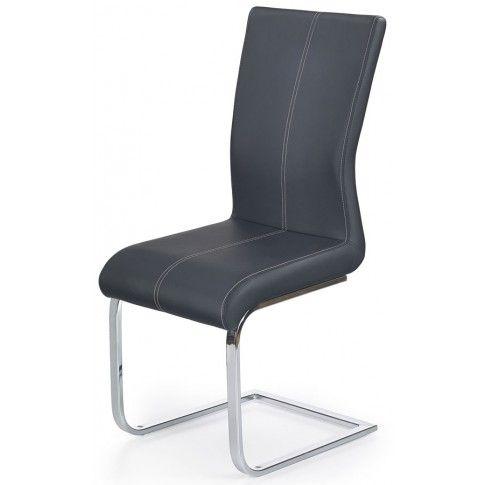 Zdjęcie produktu Krzesło tapicerowane Aspen - czarne.