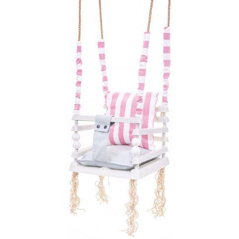 Zdjęcie produktu Różowa huśtawka dla dziewczynki 3w1 - Pola .