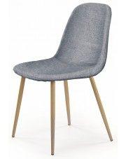 Minimalistyczne krzesło Skoner - popielate