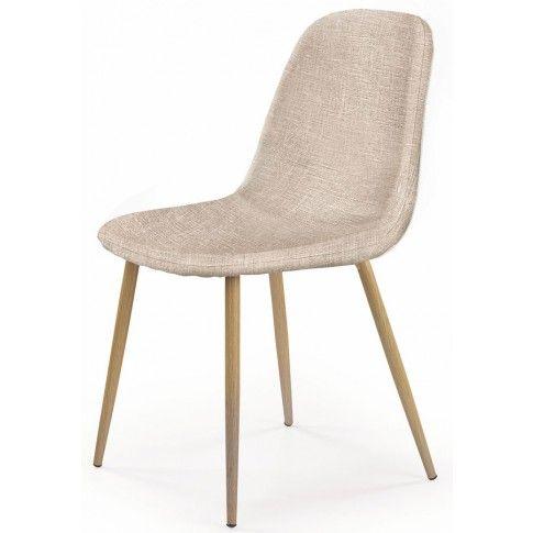 Zdjęcie produktu Tapicerowane krzesło Skoner - kremowe.