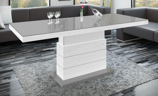 Rozkładany ławostół Armila 6X - szary biały