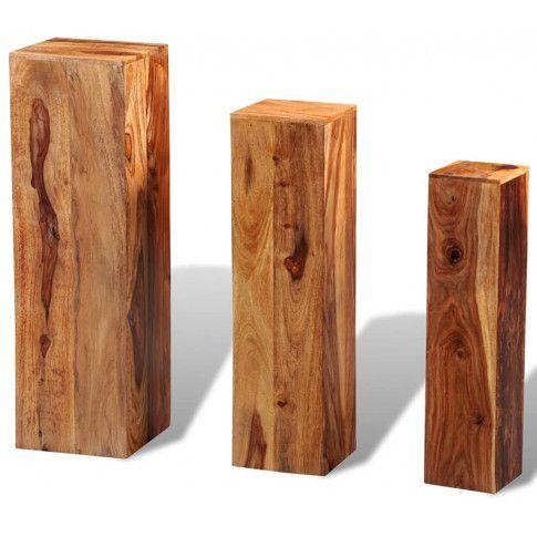 Nowoczesny zestaw kwietników z drewna palisandru Nadil