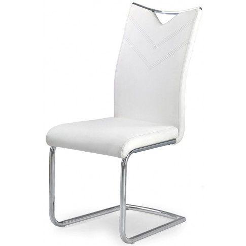 Zdjęcie produktu Minimalistyczne krzesło Eldor - białe.