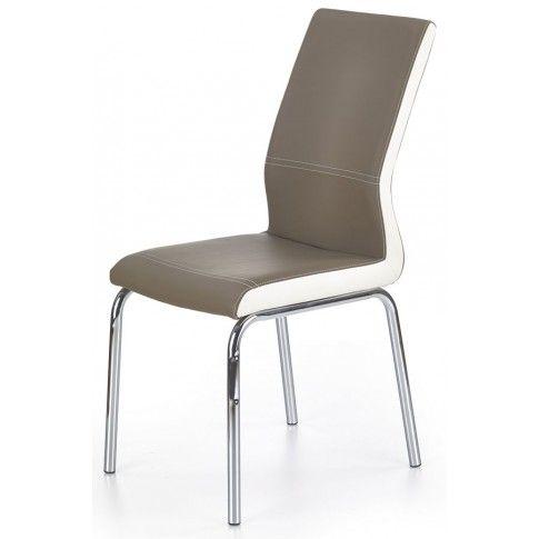 Zdjęcie produktu Tapicerowane krzesło Rikon - cappuccino.