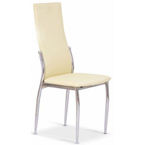 Zdjęcie produktu Tapicerowane krzesło Galder - waniliowe.