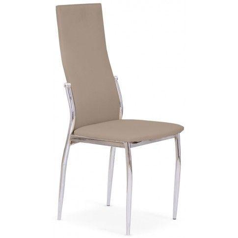 Zdjęcie produktu Tapicerowane krzesło Galder - cappuccino.