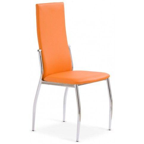 Zdjęcie produktu Tapicerowane krzesło Galder - pomarańczowe.