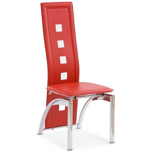Zdjęcie produktu Tapicerowane krzesło Imper - czerwone.