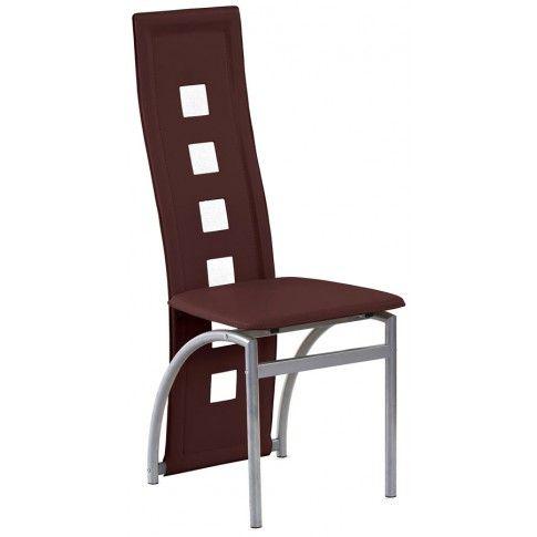 Zdjęcie produktu Tapicerowane krzesło Bilios - brązowe.