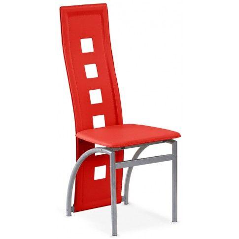 Zdjęcie produktu Tapicerowane krzesło Bilios - czerwone.