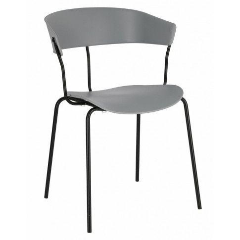 Szare krzesło Salmi do salonu