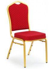 Luksusowe krzesło Abrax - bordowe w sklepie Edinos.pl