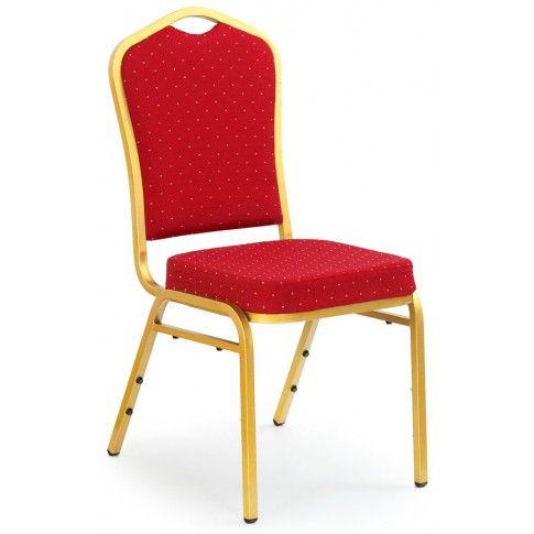 Zdjęcie produktu Luksusowe krzesło typu ludwik Abrax - bordowe.