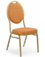 Krzesło w stylu glamour Abrax - złote