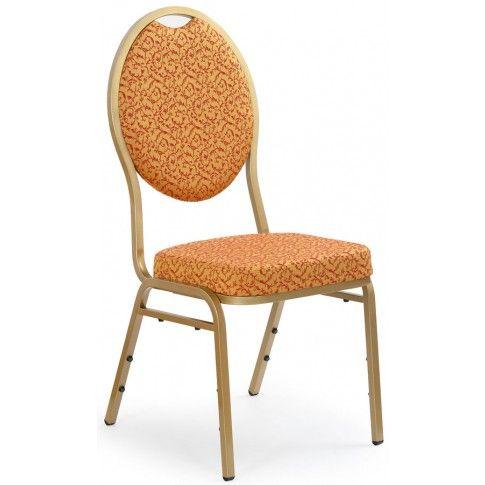 Zdjęcie produktu Krzesło w stylu glamour Abrax - złote.