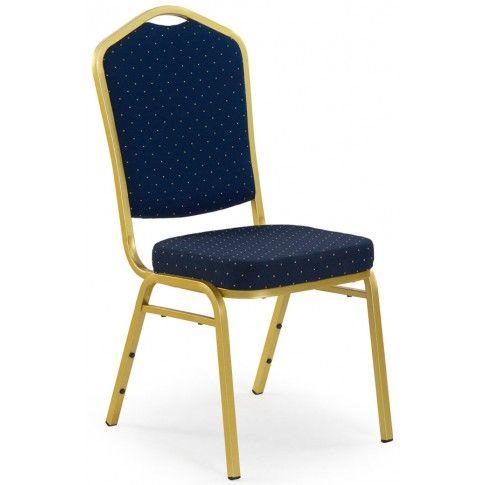 Zdjęcie produktu Luksusowe krzesło Abrax - granat + złoty.
