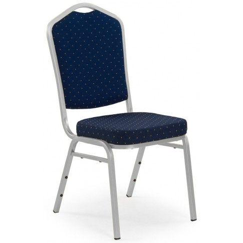 Zdjęcie produktu Barokowe krzesło Abrax - granat + srebrny.