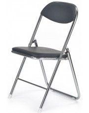 Składane krzesło konferencyjne Dagon - czarne w sklepie Edinos.pl