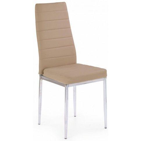 Zdjęcie produktu Tapicerowane krzesło Perks - beżowe.