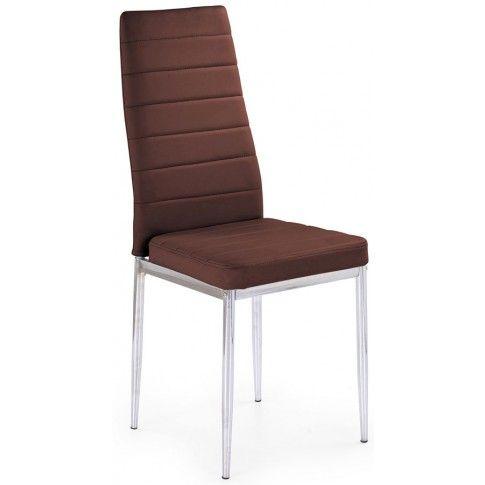 Zdjęcie produktu Tapicerowane krzesło Perks - brązowe.