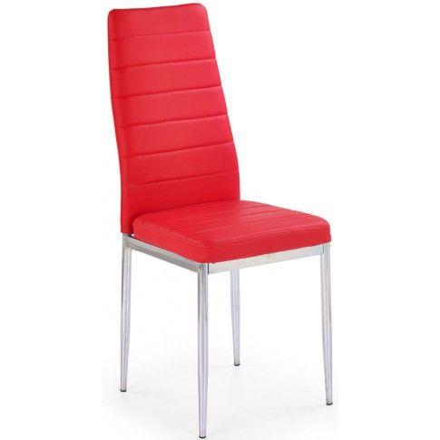 Zdjęcie produktu Tapicerowane krzesło Perks - czerwone.