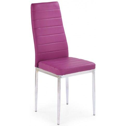 Zdjęcie produktu Tapicerowane krzesło Perks - fioletowe.