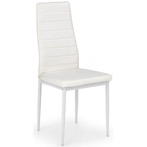 Zdjęcie produktu Tapicerowane krzesło Dikon - białe.