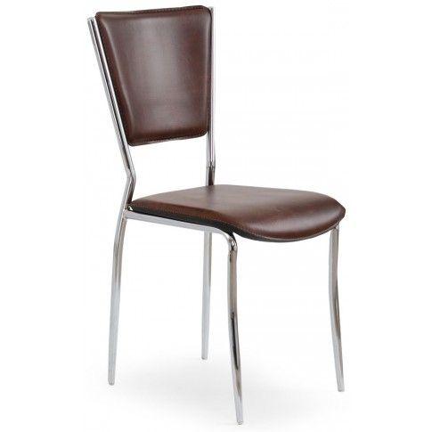 Zdjęcie produktu Tapicerowane krzesło Voltan - brązowe.