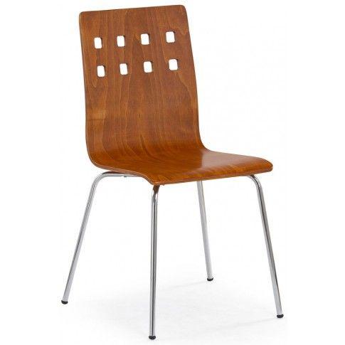 Zdjęcie produktu Metalowe krzesło Tridin - czereśnia antyczna.