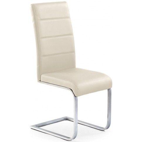 Zdjęcie produktu Tapicerowane krzesło Nivor - kremowe.