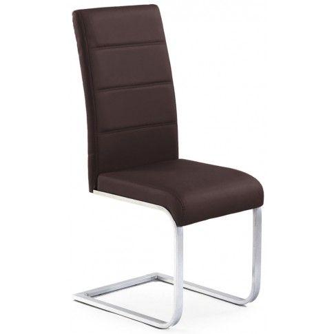 Zdjęcie produktu Tapicerowane krzesło Nivor - brązowe.
