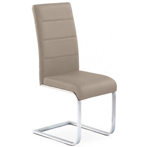 Zdjęcie produktu Tapicerowane krzesło Nivor - cappuccino.