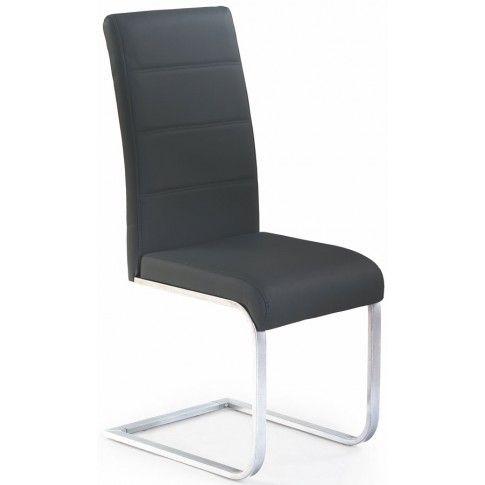 Zdjęcie produktu Tapicerowane czarne krzesło w stylu nowoczesnym Nivor.