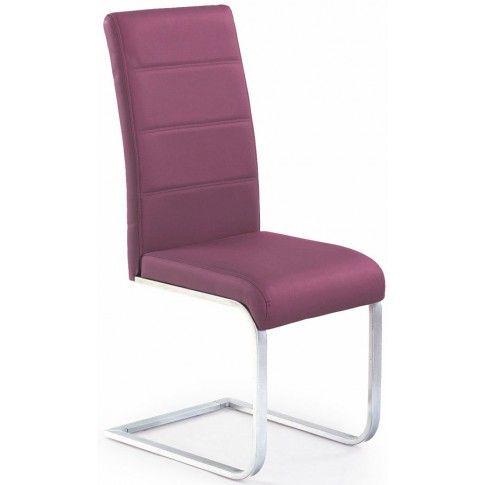 Zdjęcie produktu Tapicerowane krzesło Nivor - fioletowe.