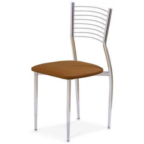 Zdjęcie produktu Profilowane krzesło Hider - brązowe.