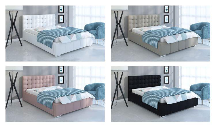 Przykładowe aranżacje łóżka Elber 2X