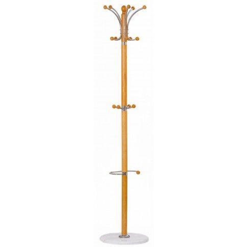 Zdjęcie produktu Drewniany wieszak stojący Geran - olcha.