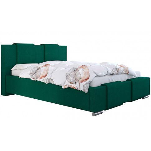 Tapicerowane łóżko z pojemnikiem 120x200 Lamar